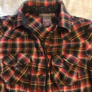 Lace/plaid Shirt & leggings